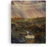 Rainstorm - God refreshing and cleaning the earth Canvas Print