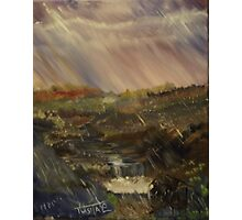 Rainstorm - God refreshing and cleaning the earth Photographic Print