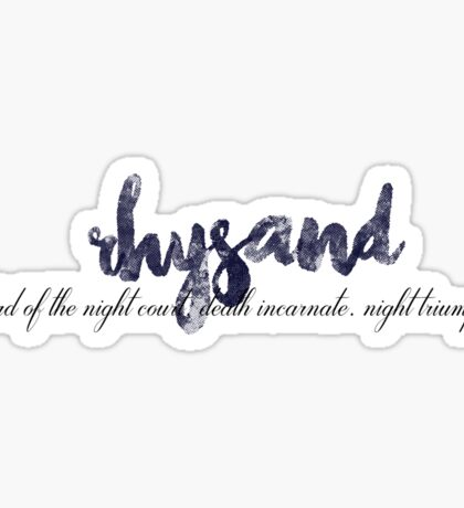 The Court of Dreams: Rhysand Sticker
