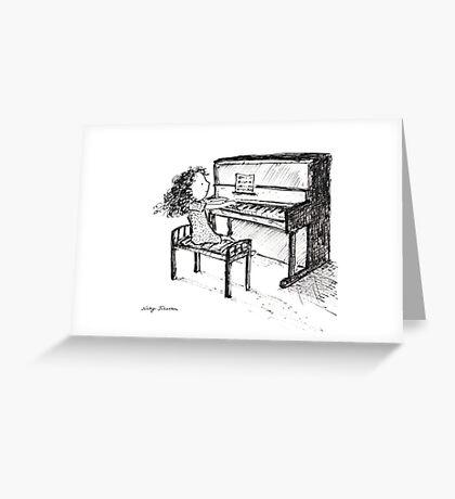 Piano Playing Greeting Card