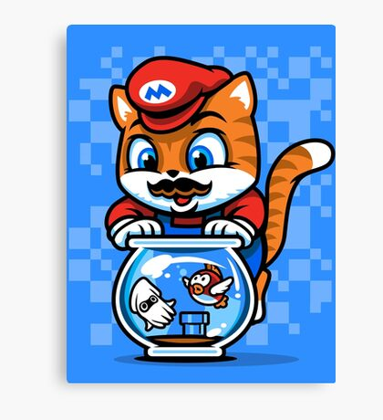 It's A ME-OW, Mario! Canvas Print