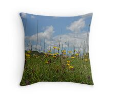 Through the flowers I see.... Throw Pillow
