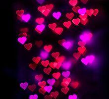 Love heart bokeh by Ryan McEwan