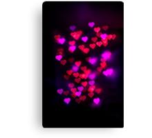 Love heart bokeh Canvas Print