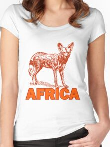 CAPE HUNTING DOG Women's Fitted Scoop T-Shirt