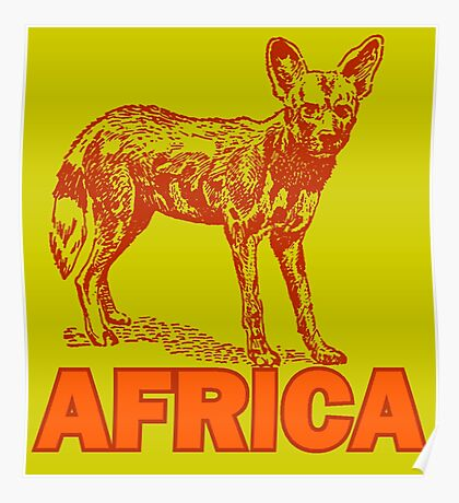 CAPE HUNTING DOG Poster