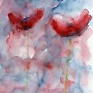 Two Abstract poppies by Simon Rudd