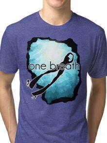 One breath: Freediving Tri-blend T-Shirt