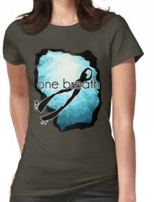 One breath: Freediving Womens Fitted T-Shirt