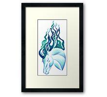 Marbled Water Horse Portrait Framed Print