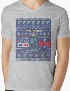 Who Christmas Sweater Mens V-Neck T-Shirt