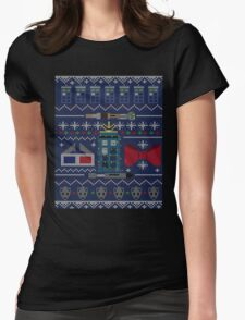 Who Christmas Sweater Womens Fitted T-Shirt