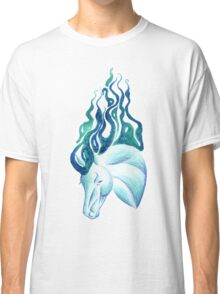 Marbled Water Horse Portrait Classic T-Shirt