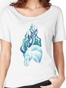 Marbled Water Horse Portrait Women's Relaxed Fit T-Shirt