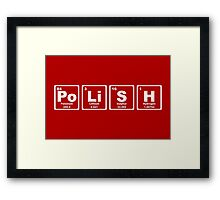 Polish - Periodic Table Framed Print