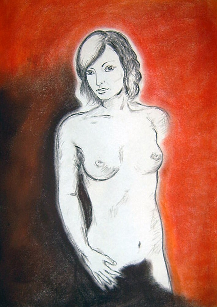 Naked women with colours by Frederick Sarran