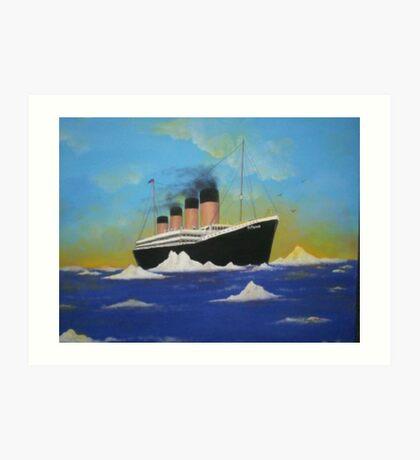Titanics last voyage Art Print