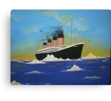 Titanics last voyage Canvas Print