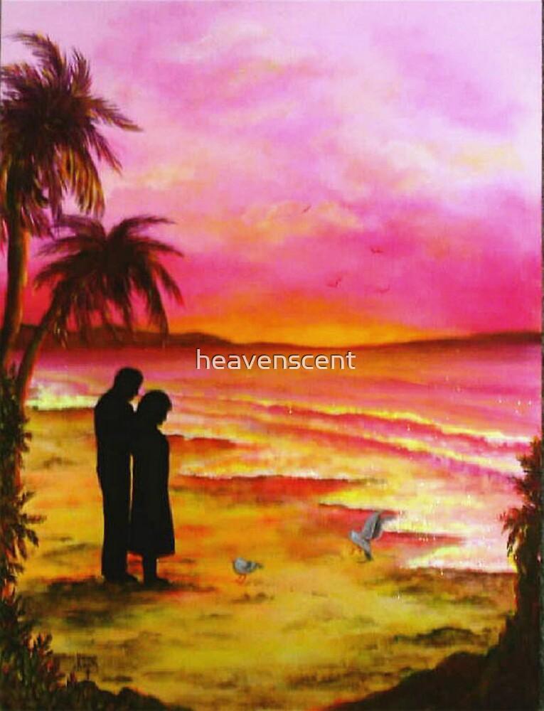 Romantic pink Hawaiian Sunset by heavenscent