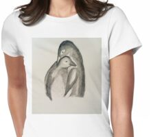 penguin paternal love Womens Fitted T-Shirt