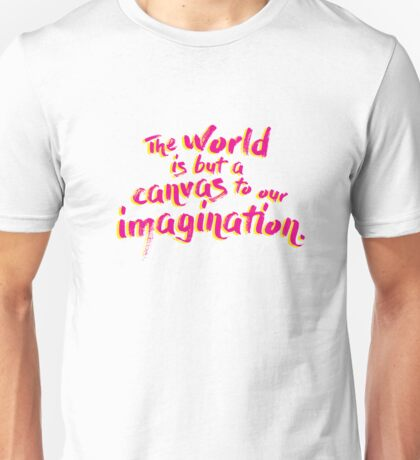 Thoreau Quote Pink Unisex T-Shirt