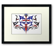 Spiked Mask Framed Print