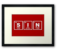 Sin - Periodic Table Framed Print