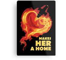 Love Makes Her A Home Metal Print