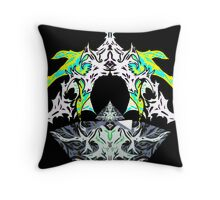 Pyramids of light Throw Pillow