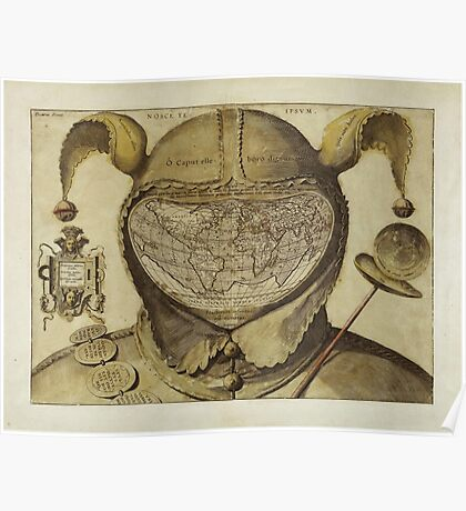 Fool's Cap Map of the World Poster