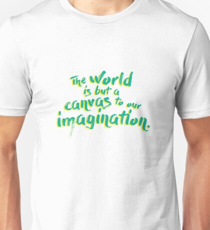 Thoreau Quote Green Unisex T-Shirt