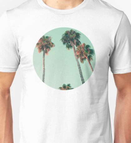 Palm trees at sunset Unisex T-Shirt