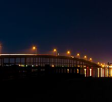 The AB Bridge at Night by John Bacon