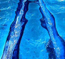 Riverbed in Blue by Mike Solomonson