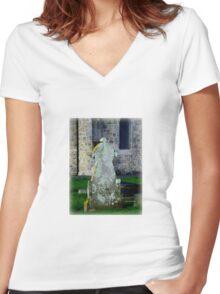 Topsham Cemetery Women's Fitted V-Neck T-Shirt