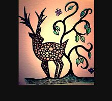 colourful stag Womens Fitted T-Shirt