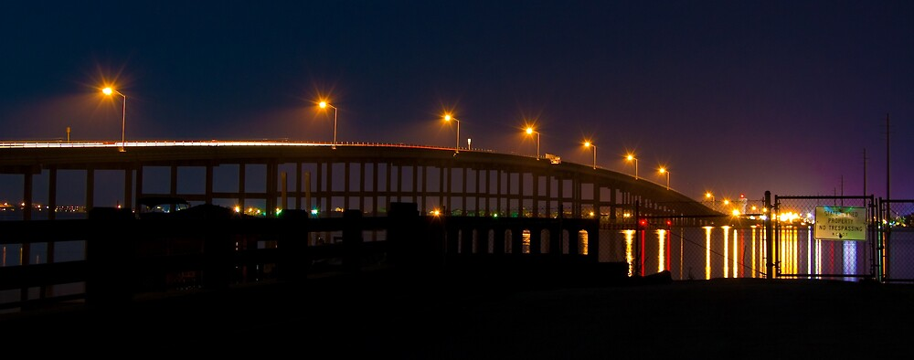 The AB Bridge at Night - Wide Format by John Bacon