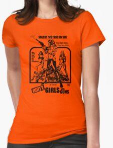 Dirty Guns With Guns Womens Fitted T-Shirt
