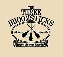 The Three Broomsticks, Harry Potter, ButterBeer by NerdGirlTees