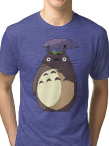 My Neighbour Totoro - Umbrella Totoro Tri-blend T-Shirt