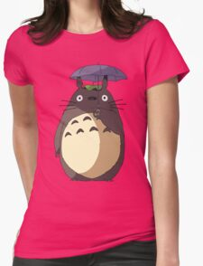 My Neighbour Totoro - Umbrella Totoro Womens Fitted T-Shirt