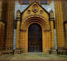 Buckfast Abbey Entrance by Charmiene Maxwell-batten