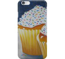 Yellow Cupcakes With Rainbow Sprinkles iPhone Case/Skin