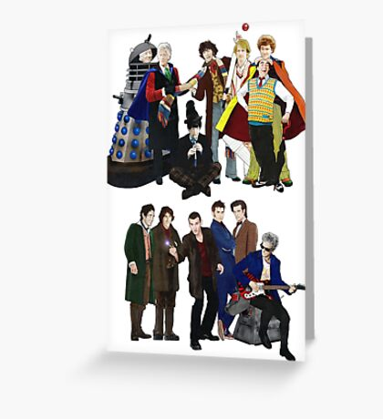 Doctor Who - The 13 Doctors II Greeting Card
