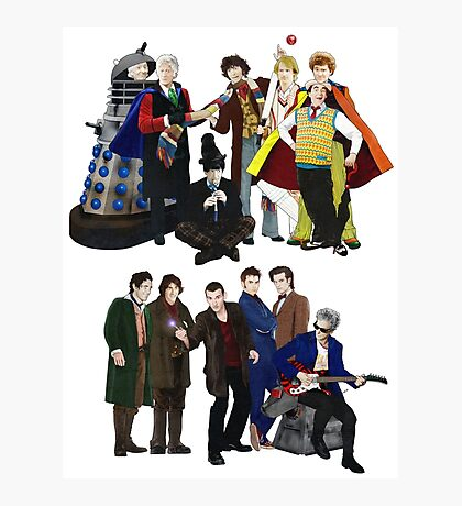 Doctor Who - The 13 Doctors II Photographic Print