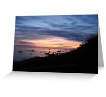 Purple Sunsets Greeting Card