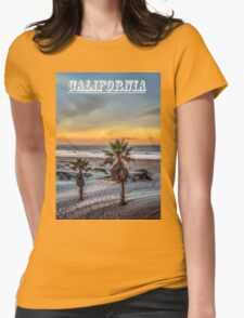 Wake up for Sunrise in California Womens Fitted T-Shirt