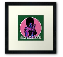 Spirals in Afro Funk Sister Framed Print