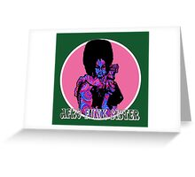 Spirals in Afro Funk Sister Greeting Card