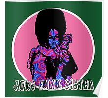 Spirals in Afro Funk Sister Poster